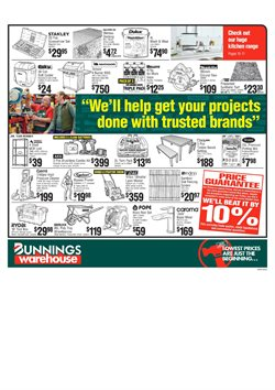 Offers from Bunnings Warehouse in the Bendigo VIC catalogue