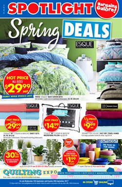Offers from Spotlight in the Canberra ACT catalogue