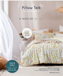 Homeware & Furniture specials in the Pillow Talk catalogue ( 6 days left)