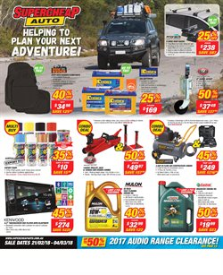 Cars, motorcycles & spares offers in the SuperCheap Auto catalogue in Bendigo VIC