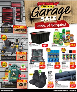 Cars, motorcycles & spares offers in the SuperCheap Auto catalogue in Adelaide SA