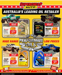 Cars, motorcycles & spares offers in the SuperCheap Auto catalogue in Brisbane QLD