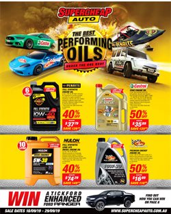 Offers from SuperCheap Auto in the Brisbane QLD catalogue
