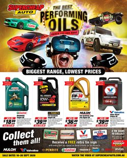 Cars, Motorcycles & Spares offers in the SuperCheap Auto catalogue ( Expires tomorrow )