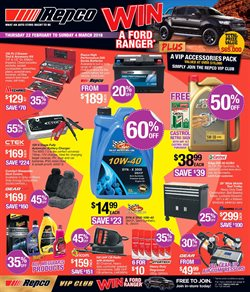 Cars, motorcycles & spares offers in the Repco catalogue in Bendigo VIC