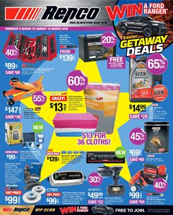 Cars, motorcycles & spares offers in the Repco catalogue in Yeppoon QLD