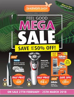 Pharmacy, Beauty & Personal Care offers in the Shaver Shop catalogue in Mandurah WA