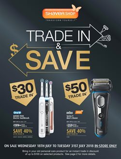 Offers from Shaver Shop in the Melbourne VIC catalogue