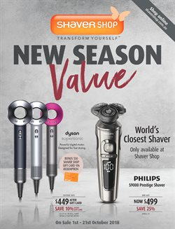 Pharmacy, Beauty & Personal Care offers in the Shaver Shop catalogue in Sydney NSW