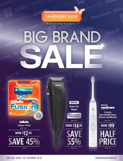 Pharmacy, Beauty & Health offers in the Shaver Shop catalogue in Sydney NSW