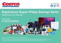 Black Friday specials in the Costco catalogue ( 4 days left)