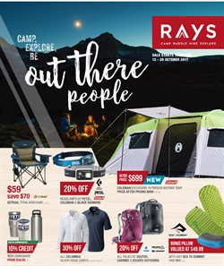 Sport offers in the Ray's Outdoor catalogue in Sydney NSW