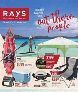 Offers from Ray's Outdoor in the Melbourne VIC catalogue