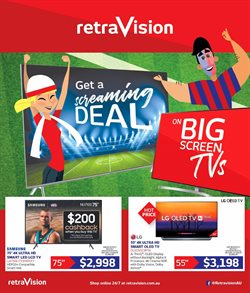 Electronics & Appliances offers in the Retravision catalogue in Newman WA