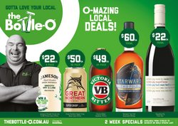 The Bottle O specials in the The Bottle O catalogue ( Expired)
