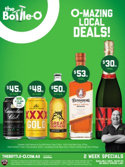 The Bottle O specials in the The Bottle O catalogue ( Expires today)