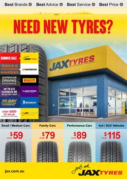 Cars, motorcycles & spares offers in the Jax Quickfit Tyres catalogue in Sydney NSW