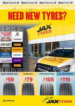 Offers from JAX Tyres in the Sydney NSW catalogue