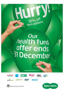 Pharmacy, Beauty & Personal Care offers in the Specsavers catalogue in Mandurah WA