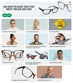 Offers from Specsavers in the Melbourne VIC catalogue