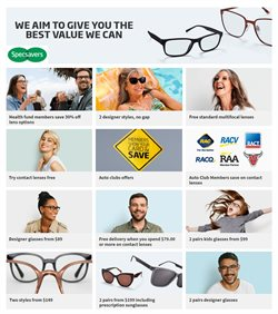 Offers from Specsavers in the Adelaide SA catalogue