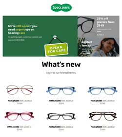 Pharmacy, Beauty & Health offers in the Specsavers catalogue in Gold Coast QLD ( 9 days left )