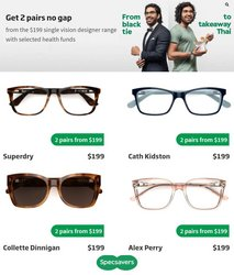 Pharmacy, Beauty & Health specials in the Specsavers catalogue ( Expires today)