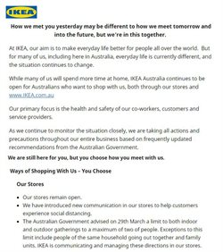 Ikea catalogue in Melbourne VIC ( 8 days left )