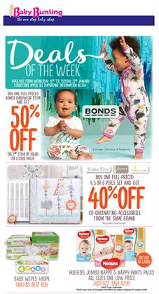 Offers from Baby Bunting in the Melbourne VIC catalogue