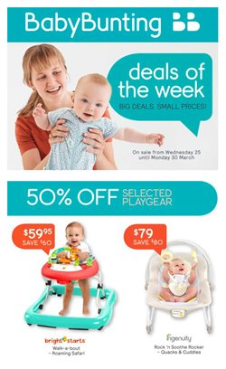 Kids, Toys & Babies offers in the Baby Bunting catalogue in Rockingham WA ( Expires tomorrow )