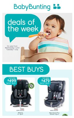Kids, Toys & Babies offers in the Baby Bunting catalogue in Perth WA ( Expires tomorrow )