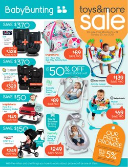 Kids, Toys & Babies specials in the Baby Bunting catalogue ( Expires today)