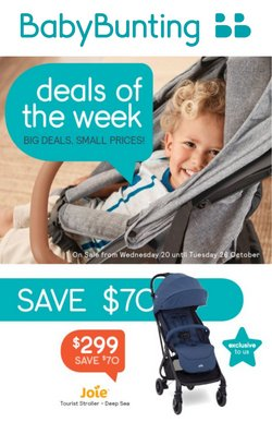 Kids, Toys & Babies specials in the Baby Bunting catalogue ( Expires tomorrow)