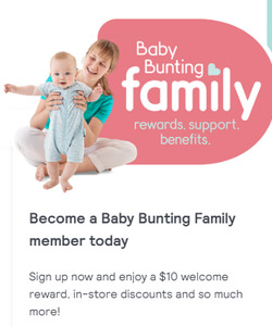 Baby Bunting coupon ( 12 days left )