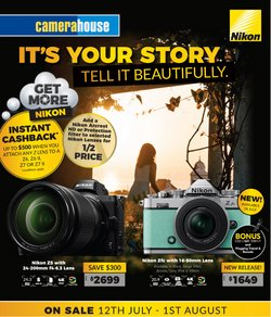 Electronics & Appliances specials in the Camera House catalogue ( 6 days left)