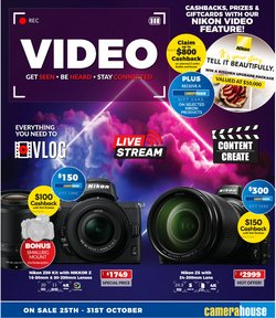 Electronics & Appliances specials in the Camera House catalogue ( Published today)
