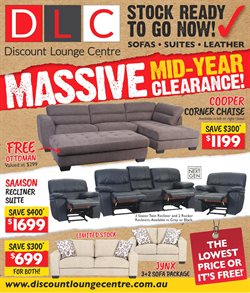 Offers from Discount Lounge in the Adelaide SA catalogue