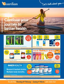Guardian Pharmacies catalogue ( 2 days ago )
