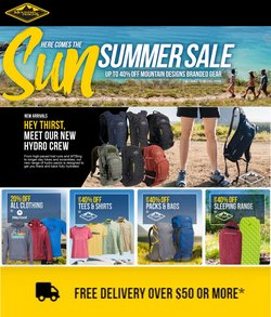 Mountain Designs specials in the Mountain Designs catalogue ( 19 days left)