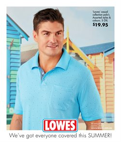 Clothing, Shoes & Accessories offers in the Lowes catalogue in Sydney NSW