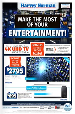 Offers from Harvey Norman in the Nelson Bay NSW catalogue