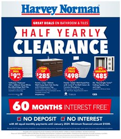 Offers from Harvey Norman in the Mandurah WA catalogue