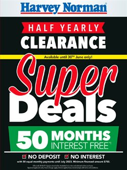 Department Stores offers in the Harvey Norman catalogue in Sydney NSW