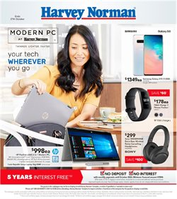 Offers from Harvey Norman in the Brisbane QLD catalogue