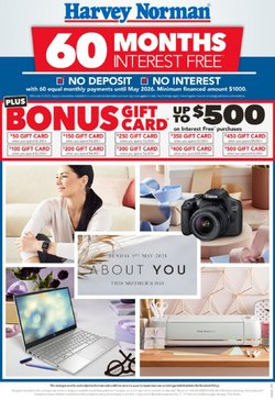 Mother's day specials in the Harvey Norman catalogue ( 6 days left)