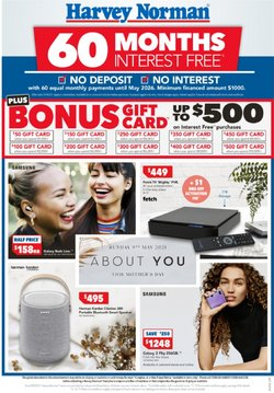 Mother's day specials in the Harvey Norman catalogue ( 3 days left)