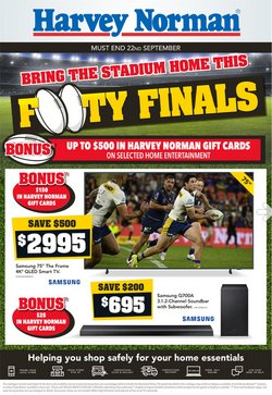 Department Stores specials in the Harvey Norman catalogue ( 5 days left)
