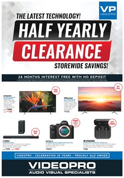 Offers from Videopro in the Brisbane QLD catalogue
