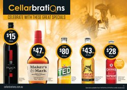 Supermarkets offers in the Cellarbrations catalogue in Hobart TAS