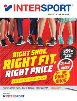 Offers from Intersport in the Adelaide SA catalogue